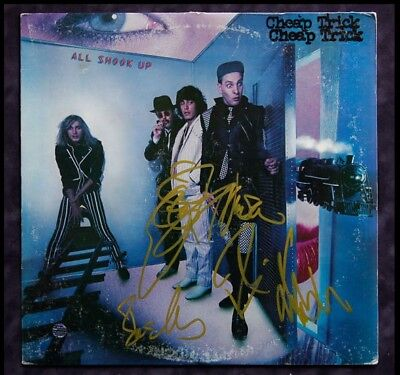 2019 New Style Gfa All Shook Up Cheap Trick Signed Record Album Ad5 Proof Coa