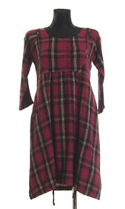 MASAI-Women-039-s-checked-3-4-sleeved-Dress-Size-Medium