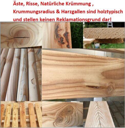 D Zaunpfosten super glatt 9x9x50 12 stk sibirische Lärche Holzpfosten Zaun