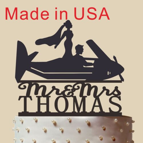 Personalized Cake Topper Pilot and Bride Cake Topper Custom Cake Topper CT152