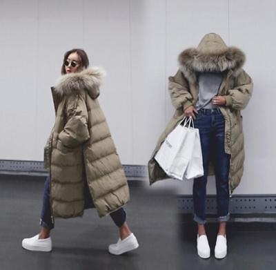 Parka Coat With Big Fur Hood