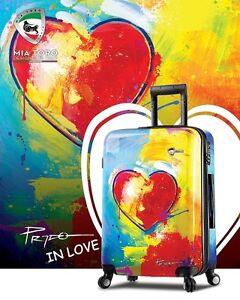 d5018ff56 Image is loading Mia-Toro-Prado-In-Love-Hardside-Spinner-Luggage-