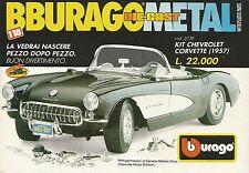 X1258 Kit Chevrolet Corvette (1957) - BBURAGO - Pubblicità 1991 - Advertising
