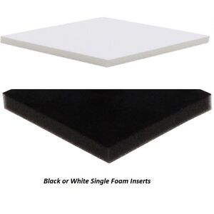 Details About Single Foam Inserts For Jewellery Gift Box Black Or White D 20