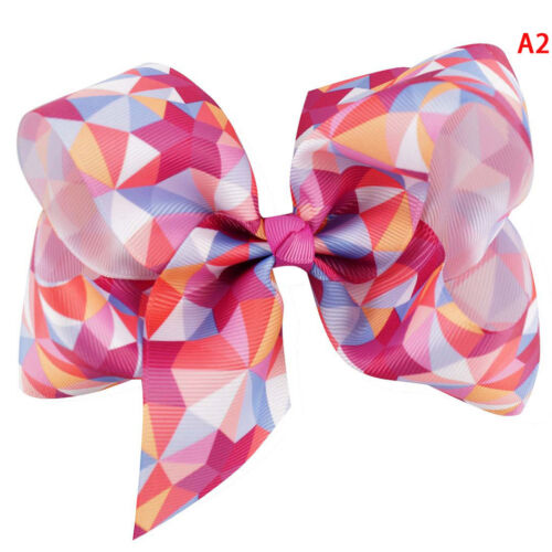 """5/"""" Rainbow hair bows with clips for kids girls boutique plaid printed ribbonNIU"""