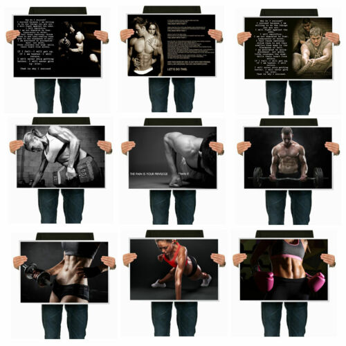 Set of 9 Motivational Quotes Wall Silk Mini Poster 16 x 12 inch No.6 30x40cm