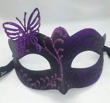 Black/Purple Glitter Beautiful Butterfly Women Masquerade Mask Halloween Mask