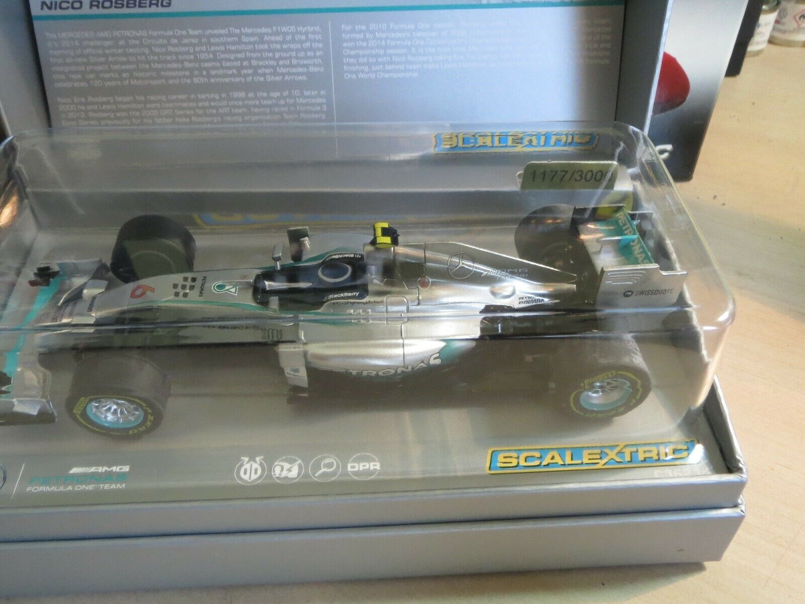 Scalextric c3621A BRAND NEW LIMITED EDITION 1177 3000 NICO ROSBERG SUPERB CAR