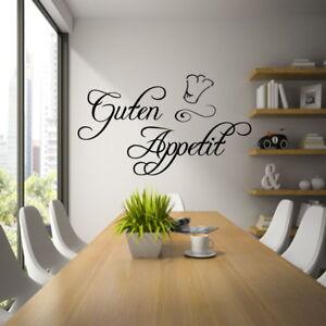 Details zu Wandtattoo Küche Spruch AA060 GUTEN APPETIT Wandaufkleber  Esszimmer