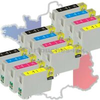 6+6 Cartouches D'encre Non-oem Pour Epson Pour Imprimante Sx115