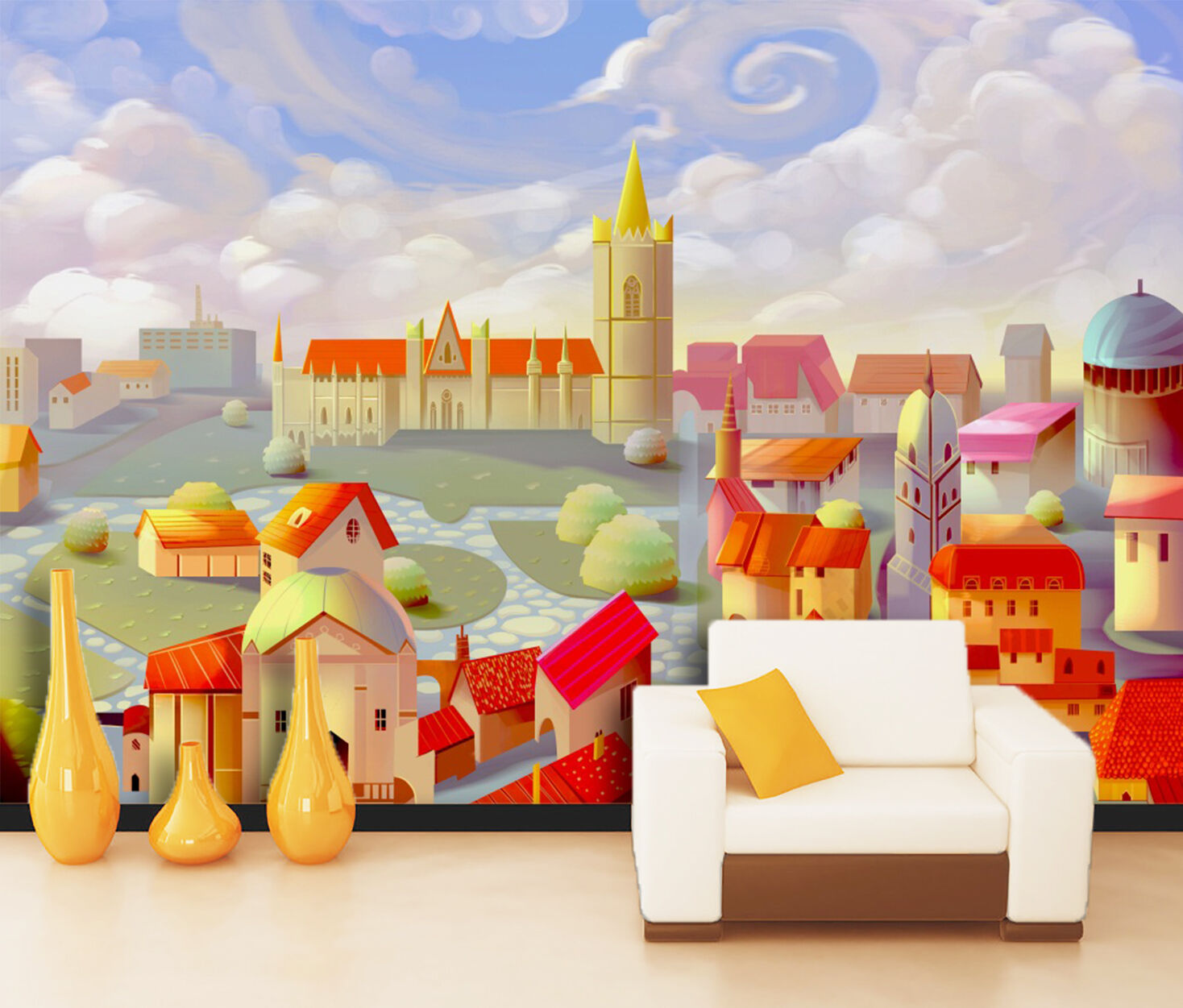 3D Fairy Tale World 016 WallPaper Murals Wall Print Decal Wall Deco AJ WALLPAPER