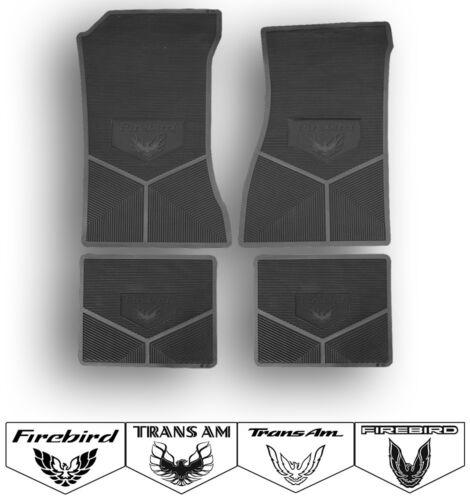 Choose Logo and Color 67-02 Firebird Trans Am Custom Rubber Floor Mats