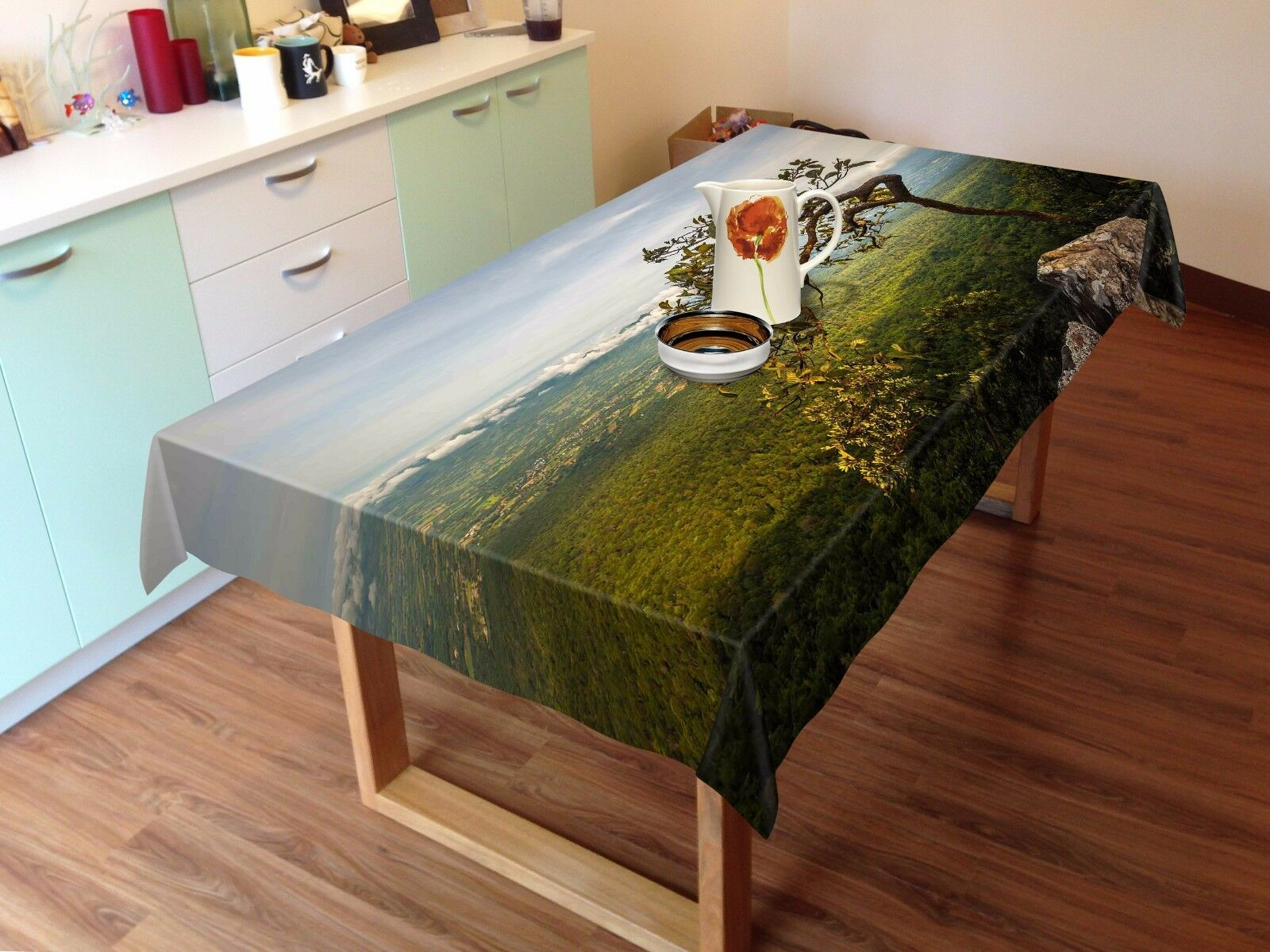 3D Trees 55 Tablecloth Tablecloth Tablecloth Table Cover Cloth Birthday Party AJ WALLPAPER UK Lemon 9c9e07