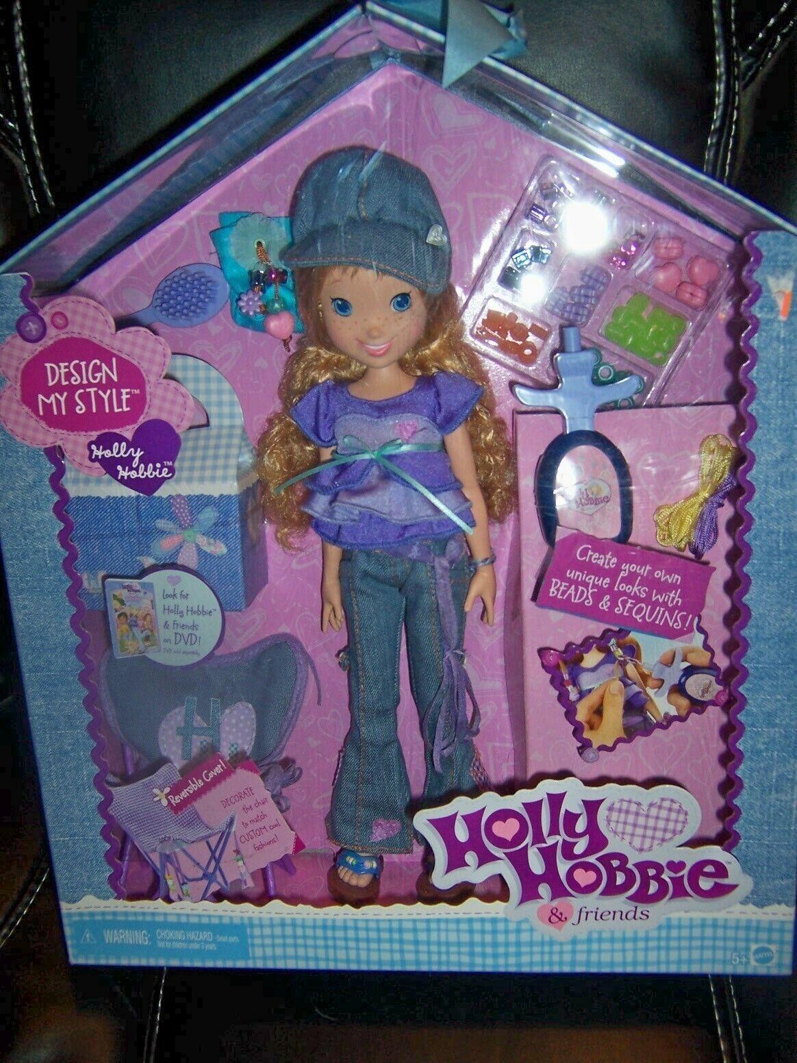 NIB MATTEL HOLLY HOBBIE Design My Stil Doll & Accessories 2006