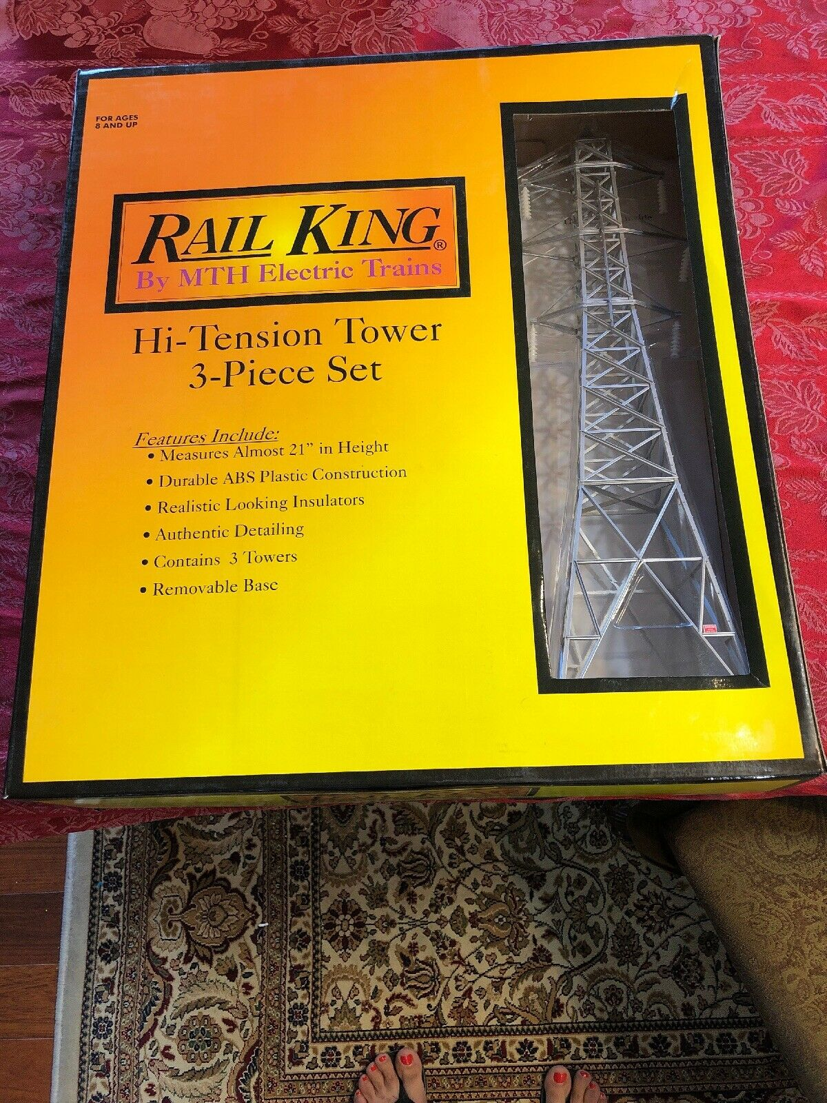 A MTH RAILKING HI TENSION TOWER 3 Pc SET O GAUGE trains power electric 1056 New