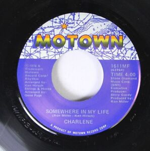 Soul-45-Charlene-Somewhere-In-My-Life-I-039-Ve-Never-Been-To-Me-On-Motown