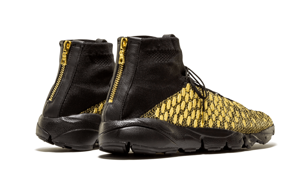 Nike Air Footscape Magista QS Metallic GOLD Lion sz 10.5 Black Olivier Rousting