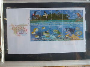 AUSTRALIA-2006-COCOS-Is-CORAL-REEFS-STRIP-10-STAMPS-FDC-FIRST-DAY-COVER