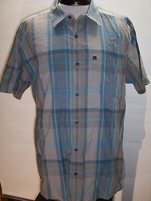 Mens Collared T-Shirt Salmon // White QUIKSILVER Button Up XL Sizes: S M L