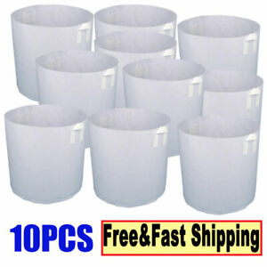 10X-Grow-Bags-Fabric-Pots-Root-Pouch-With-Handles-Planting-Container-3-5-Gallon