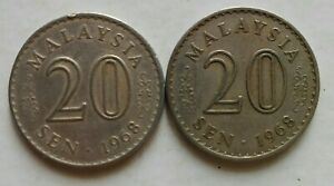 Parliament-Series-20-sen-coin-1968-2-pcs