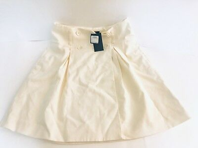 ab809157de Club Monaco Tasleem Pleated Skirt Jupe Ivory Size 8 NWT | eBay