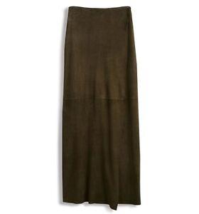 Hobbs-Marcena-Italian-Suede-Olive-Wrap-Skirt-Various-Sizes-RRP-499-BNWT