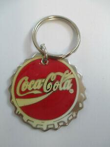 Coca-Cola-Metal-Bottle-Cap-Keychain-NOS-1993