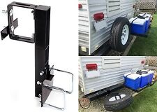 """RV Tire Carrier For 4"""" or 4.5"""" Bumper on Travel Trailer New Free Shipping USA"""