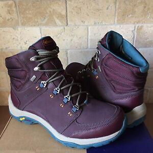 40fbd659b89 Details about AHNU by Teva Montara III Deep Wine Leather Trail Hiking Boots  Shoe Size 10 Women