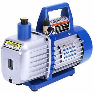 Details about 2 Stage 5CFM Rotary Vane Vacuum Pump 1/2HP HVAC AC  Refrigerant Air Conditioning