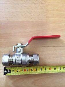 15mm 22mm 28mm LEVA COMPRESSIONE VALVOLA A SFERA ROSSO/BLU MANIGLIA Full Bore Multibuy