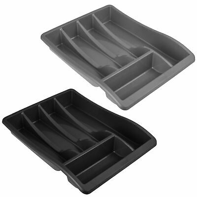 PLASTIC LARGE CUTLERY TRAY 7 COMPARTMENT PLATE RACK STORAGE TIDY CADDY ORGANIZER