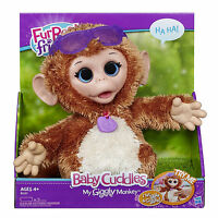 Furreal Friends Baby Cuddles My Giggly Monkey Pet Plush Interactive Toy Real