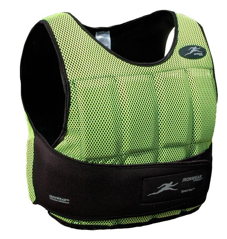 10lbs Ironwear  Short Neon Speed Vest  1 2lb Flex-Metal  MADE IN USA Free Ship