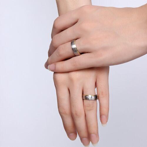 1 Paar Edelstahl Verlobungsringe Partnerringe Freundschaftsringe Eheringe Neu