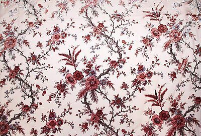 """100/% SILK VELVET BURNOUT BLACK AND BURGUNDY FABRIC 45"""" BY THE YARD FREE SHIPPING"""