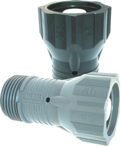 """Pressure Reducer for Drip Pipe Drip Hose Perl Hose 3//4/"""" IG x 3//4/"""" AG 2,0 Bar"""