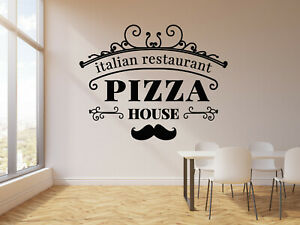 Vinyl Wall Decal Restaurant Italian Food Pizza House Store Stickers (g3487)