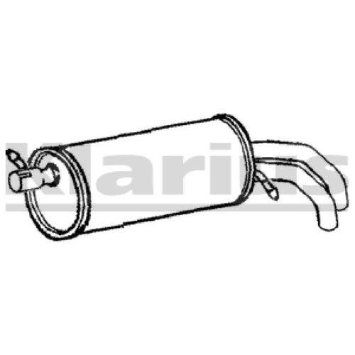 Klarius FE611K Exhaust Rear Back Box VW Sharan// Seat Alhambra// Ford Galaxy