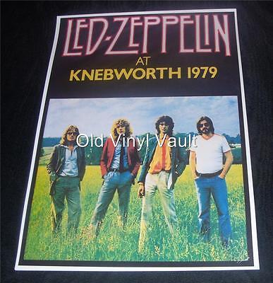 Led Zeppelin Repro Poster Knebworth 1979