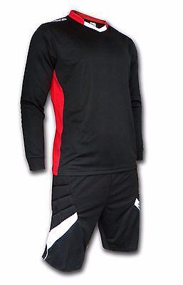 Ichnos adult size football padded goalkeeper kit (shirt + shorts)