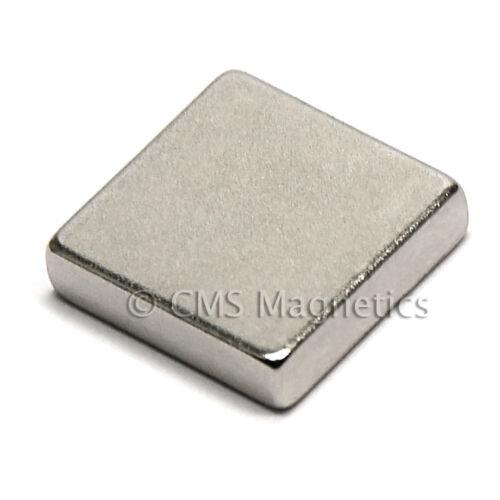 "CMS Magnetics® 100 pieces Neodymium Magnets N45 1//2x1//2x1//8/"""