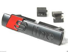 S line grill black matte BADGE EMBLEM  fits: 2003-2008 AUDI A3,A4,A6,S3,S4,S6