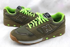 NEW-BALANCE-RARE-Trail-575-M575-Lime-Green-Suede-Leather-Sneaker-039-s-12-M575GRG