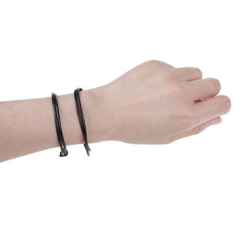 2x DIY Red leather string lucky bracelet lucky bracelet anklet against unisex Ne