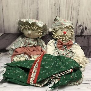 2-Vintage-Mop-Dolls-Girl-Boy-With-Extra-Christmas-Outfits-Unique-Chic-Lot