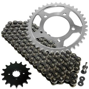 Caltric Black Drive Chain And Sprocket Kit for Suzuki Gs500E Gs500F Gs500H 1994-2010