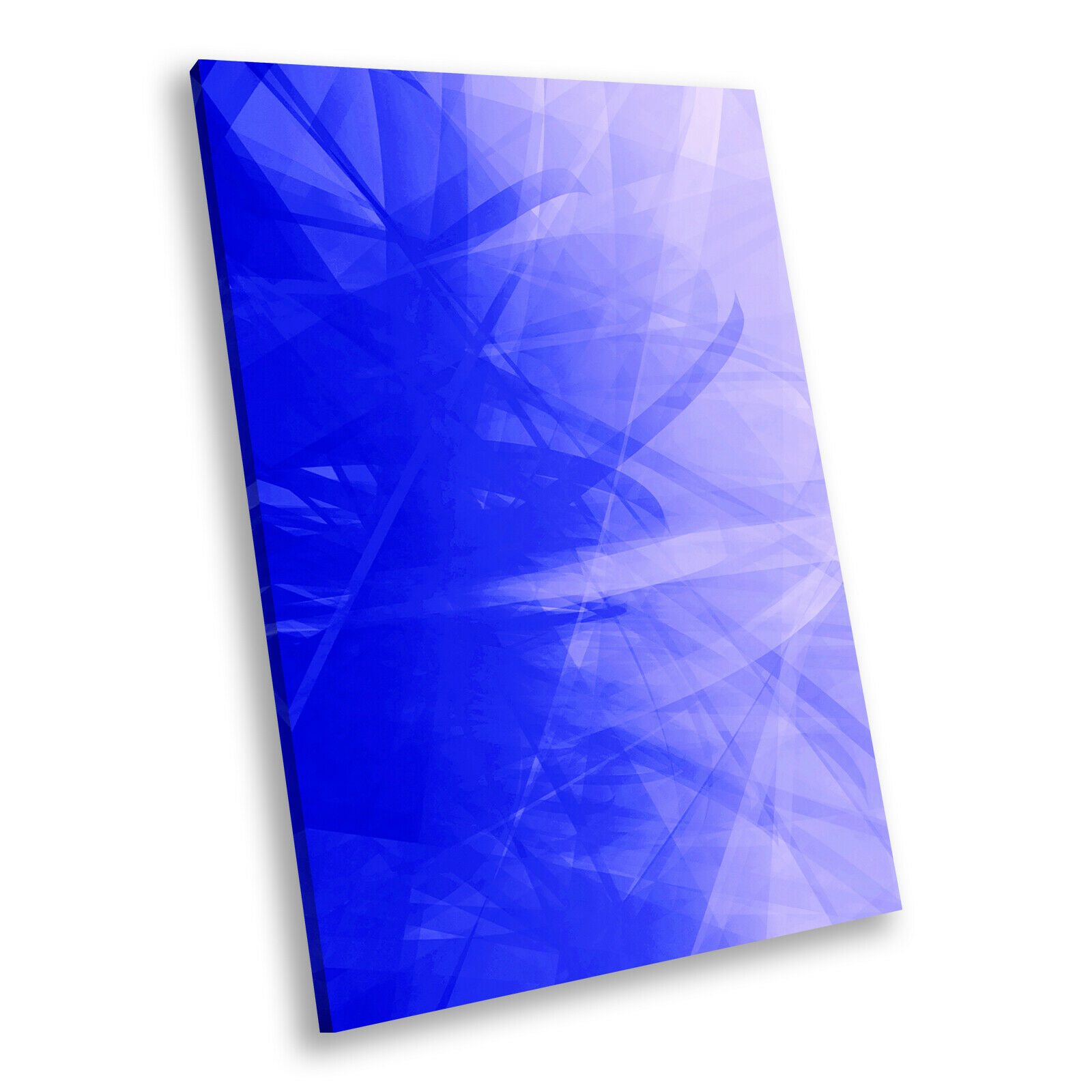 Blau lila Swirl Portrait Abstract Canvas Wall Art Large Picture Prints