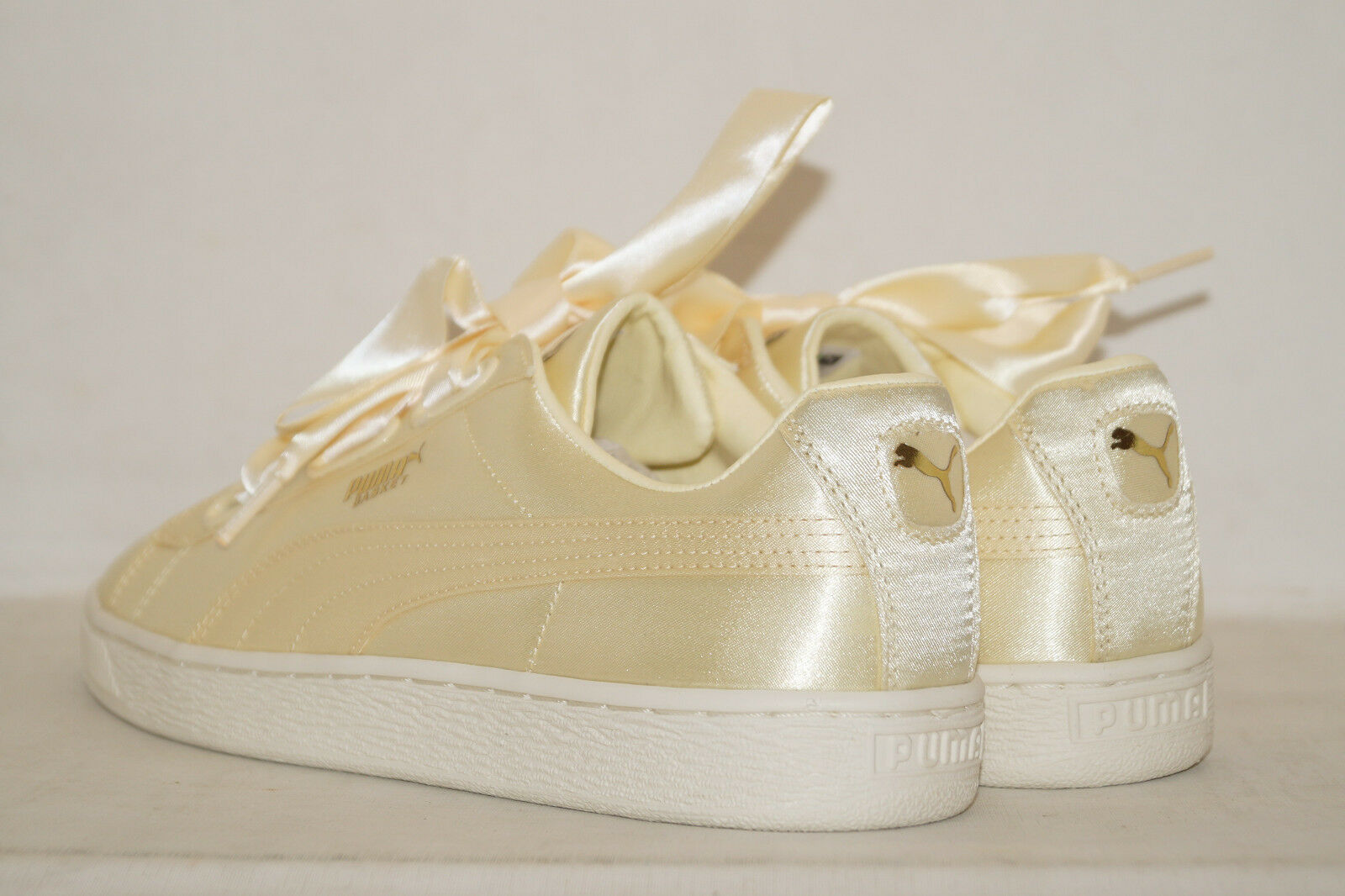 PUMA Basket Heart Satin Summer EU 40.5 weiss UK 7 gelb gold weiss 40.5 365662-02 Damen WMNS ea1397